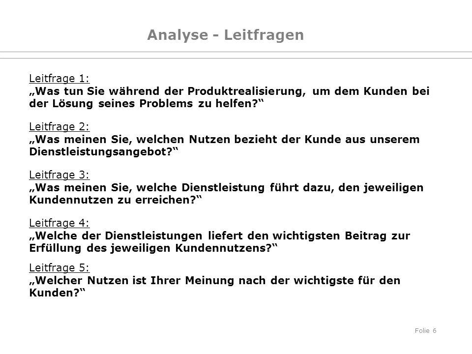 Analyse - Leitfragen Leitfrage 1: