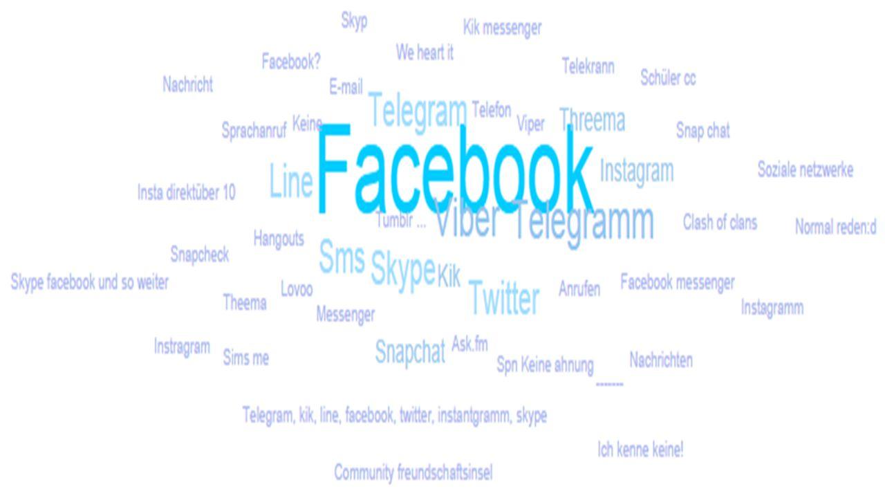 """Facebook, Skype und Twitter ist quatsch, weil es sich um keine """"Instant Messenger handelt."""