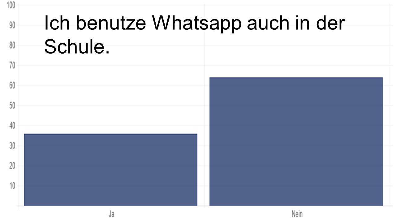 Ich benutze Whatsapp auch in der Schule.