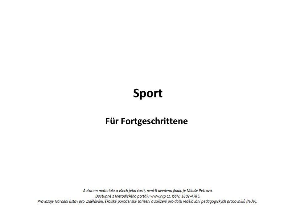 Sport Für Fortgeschrittene