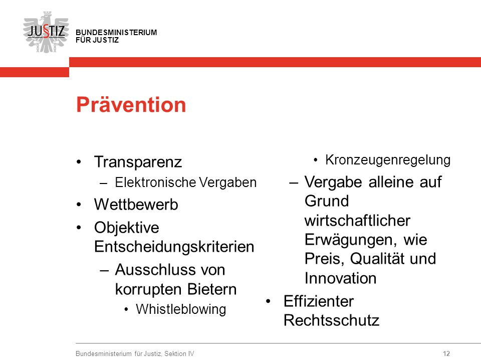 Prävention Transparenz
