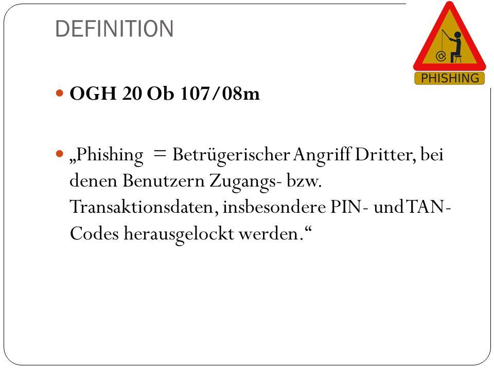 DEFINITION OGH 20 Ob 107/08m.