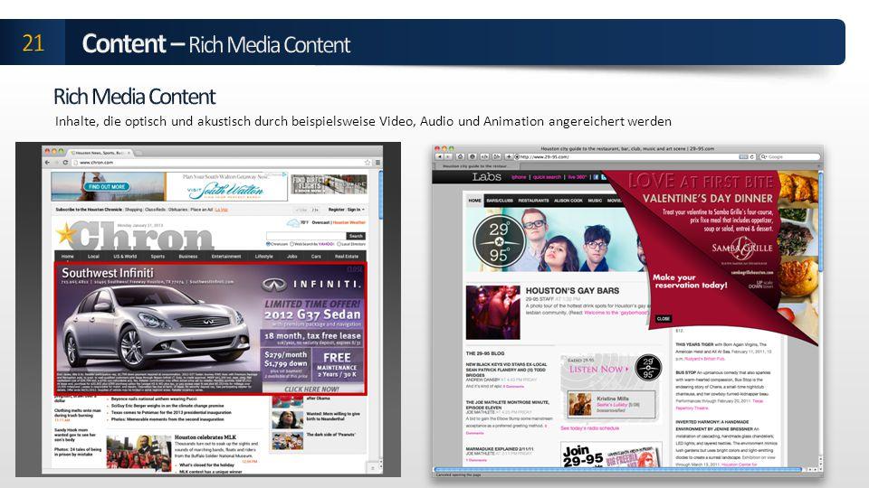 Content – Rich Media Content
