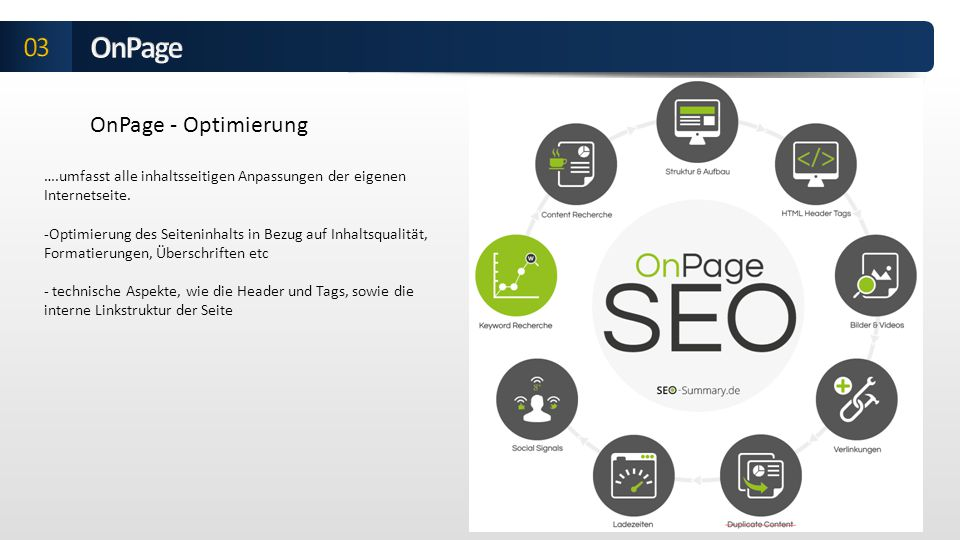 OnPage 03 OnPage - Optimierung