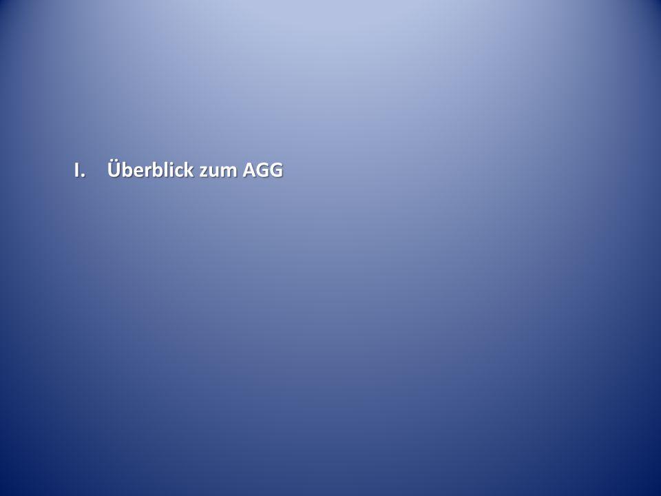 I. Überblick zum AGG