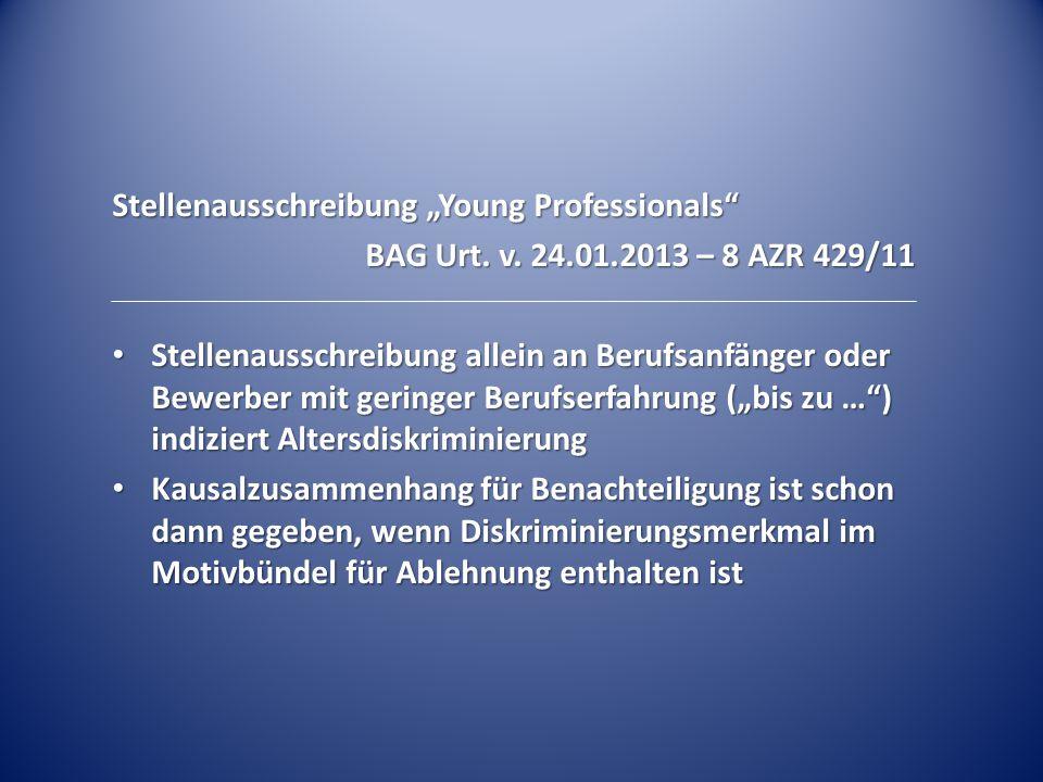 "Stellenausschreibung ""Young Professionals"