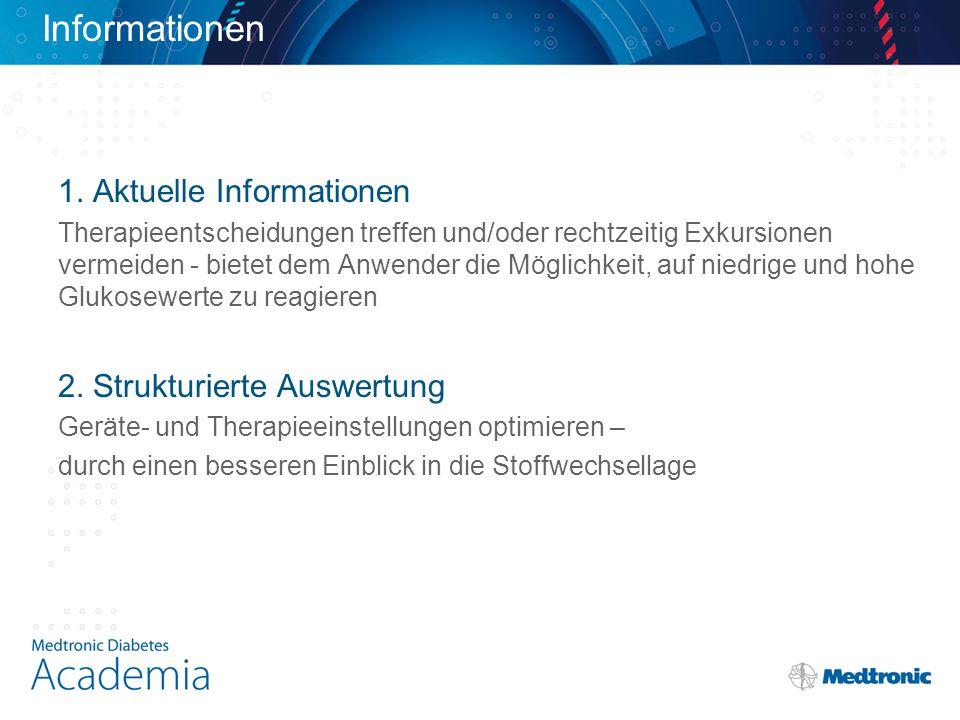 Informationen 1. Aktuelle Informationen 2. Strukturierte Auswertung