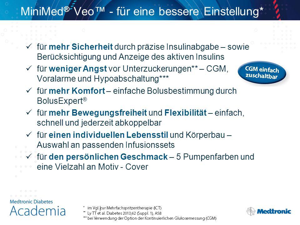 MiniMed® Veo™ - für eine bessere Einstellung*