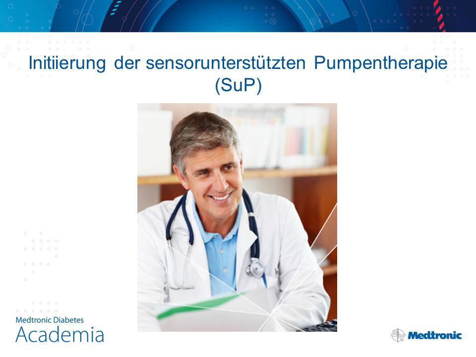Initiierung der sensorunterstützten Pumpentherapie (SuP)