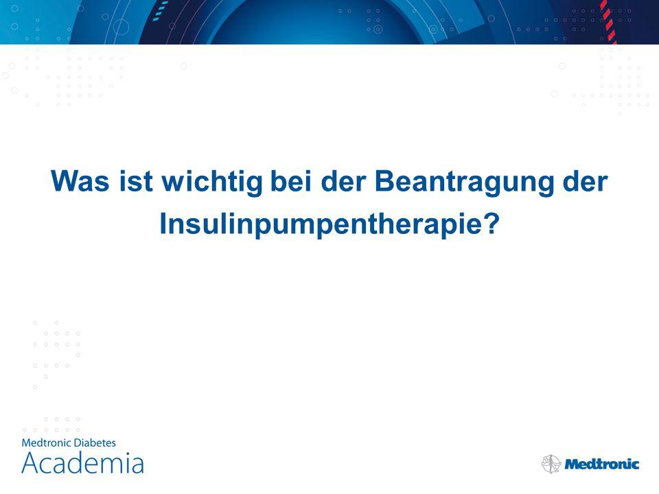 Was ist wichtig bei der Beantragung der Insulinpumpentherapie