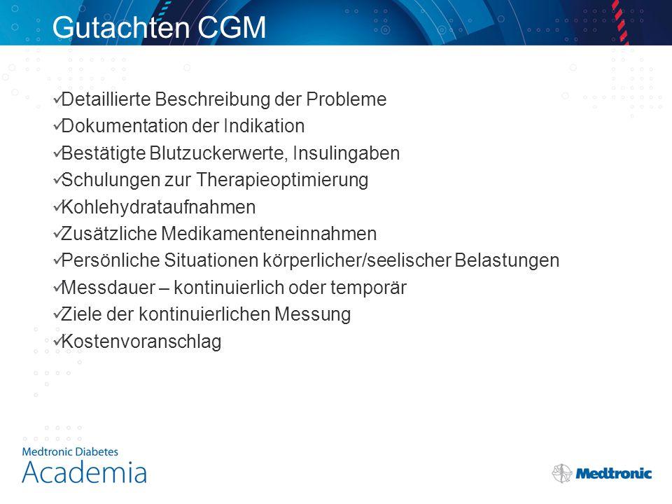 Gutachten CGM Detaillierte Beschreibung der Probleme