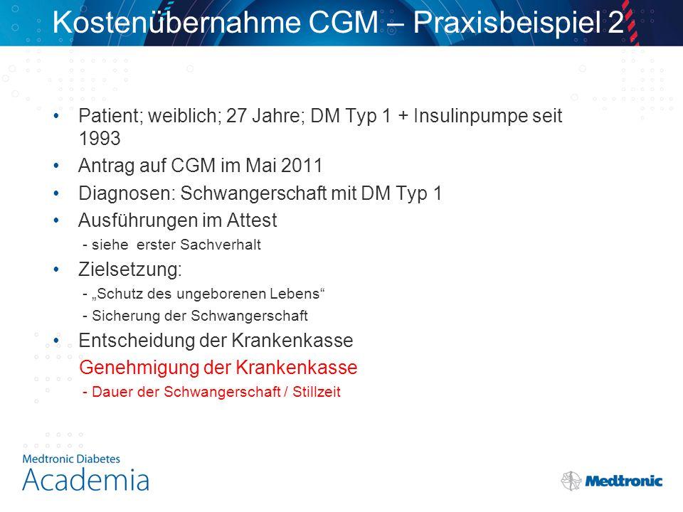 Kostenübernahme CGM – Praxisbeispiel 2