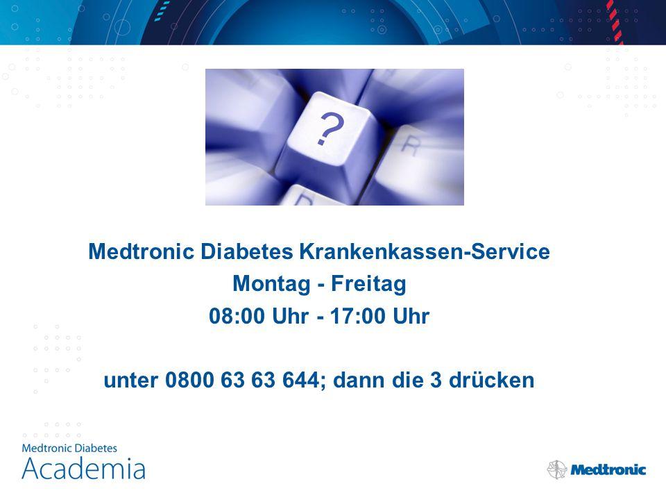 Medtronic Diabetes Krankenkassen-Service Montag - Freitag