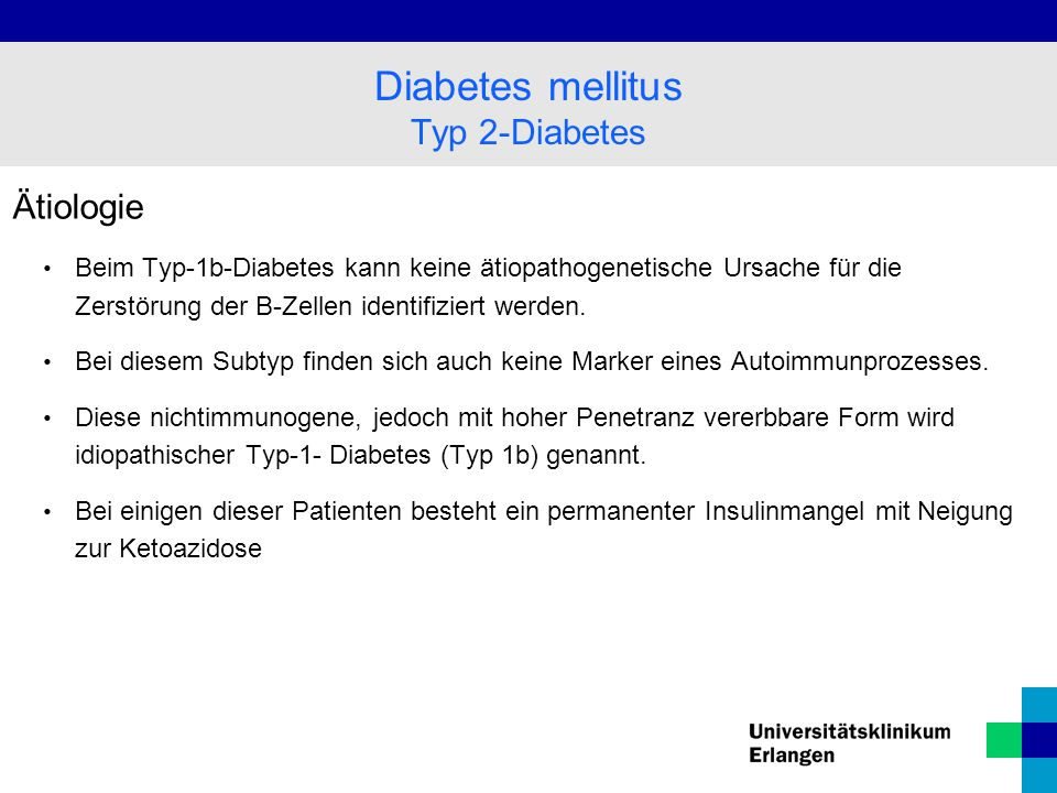 Diabetes mellitus Typ 2-Diabetes Ätiologie