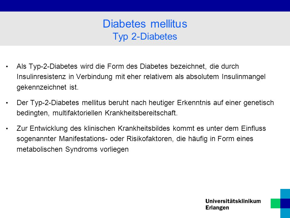 Diabetes mellitus Typ 2-Diabetes