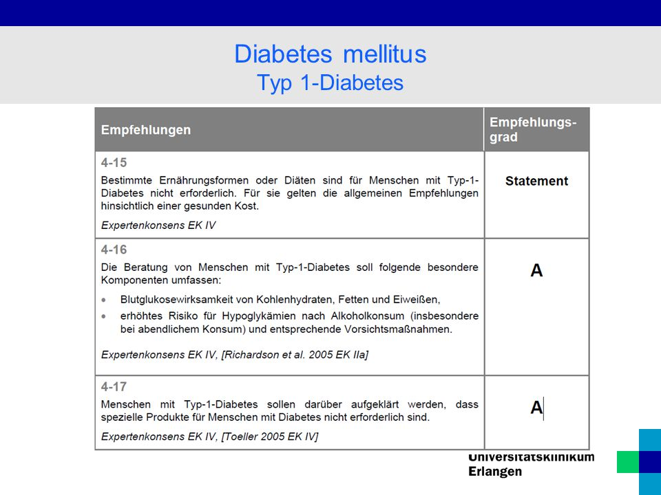 Diabetes mellitus Typ 1-Diabetes