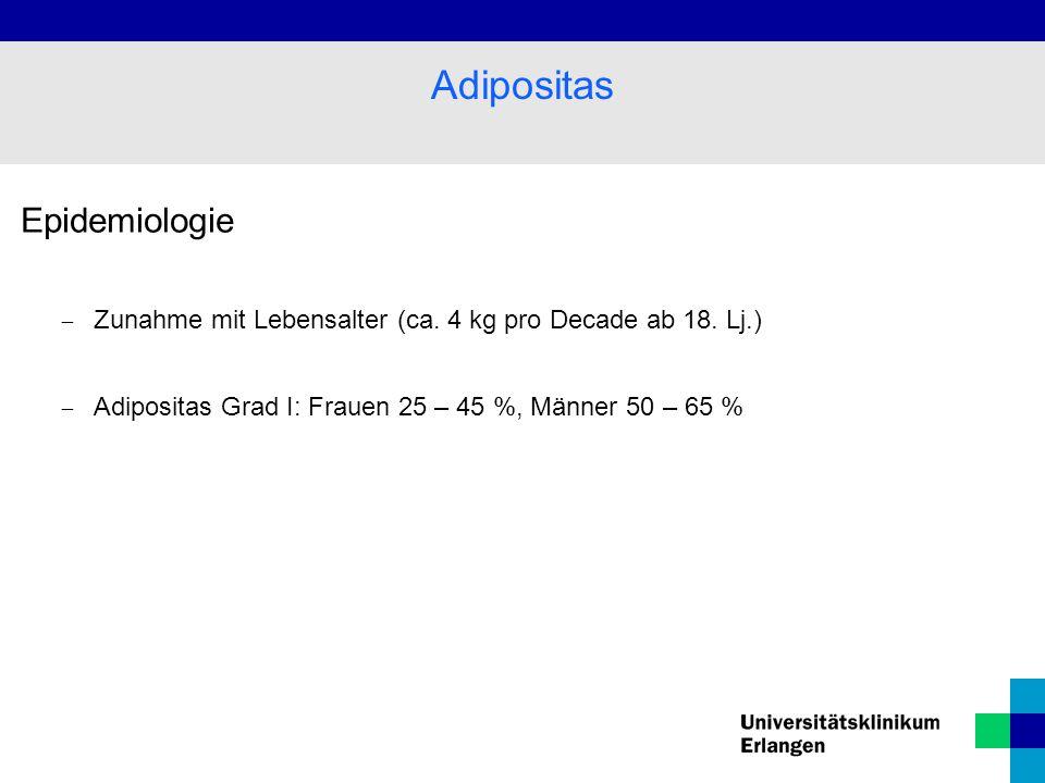 Adipositas Epidemiologie