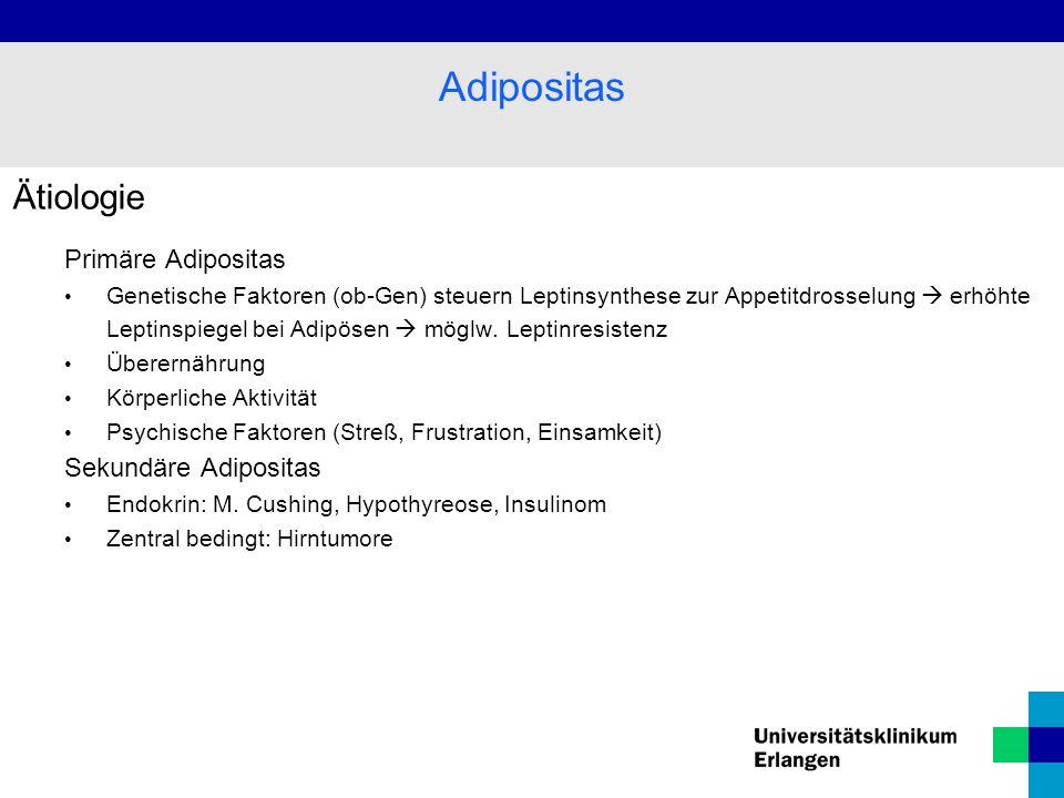 Adipositas Ätiologie Primäre Adipositas Sekundäre Adipositas