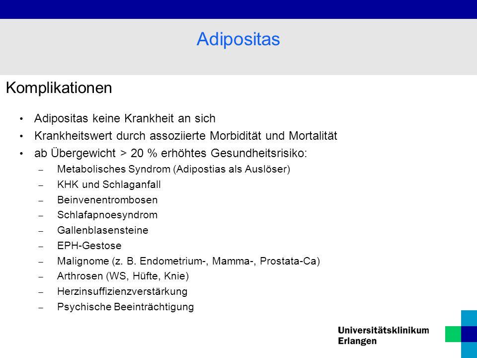 Adipositas Komplikationen Adipositas keine Krankheit an sich