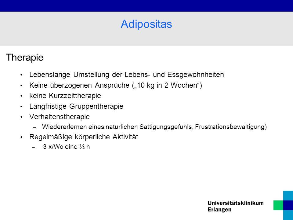 """Adipositas Therapie. Lebenslange Umstellung der Lebens- und Essgewohnheiten. Keine überzogenen Ansprüche (""""10 kg in 2 Wochen )"""