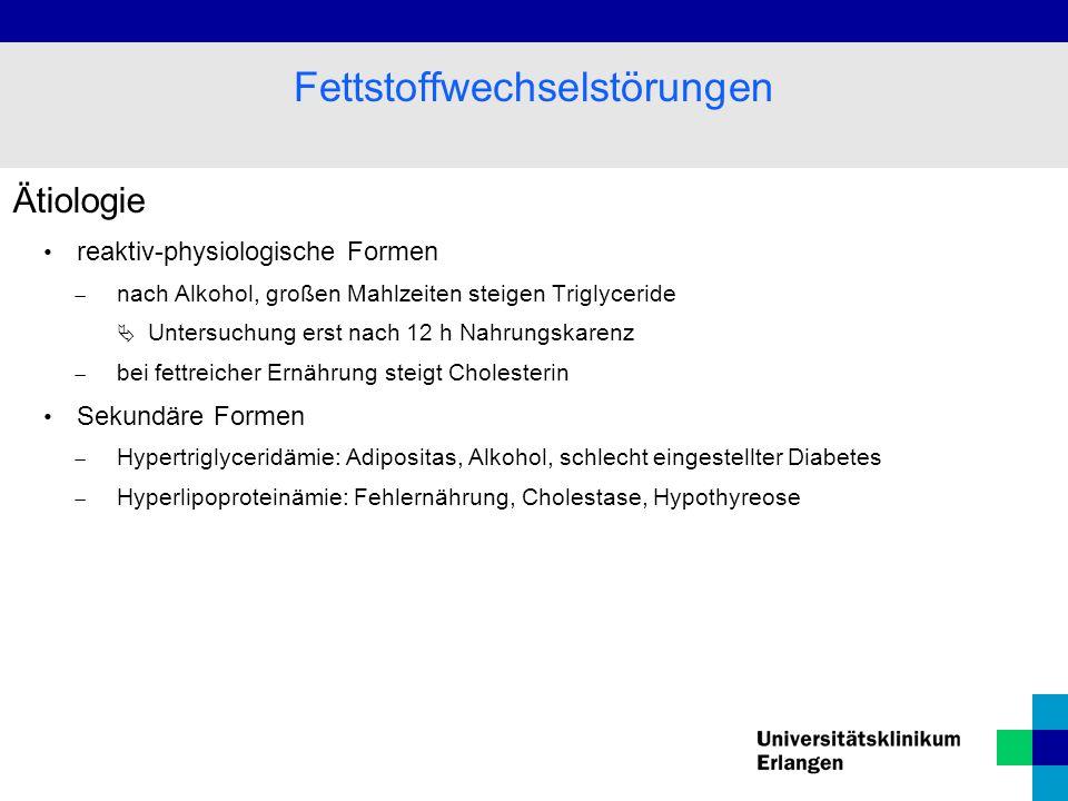 Fettstoffwechselstörungen