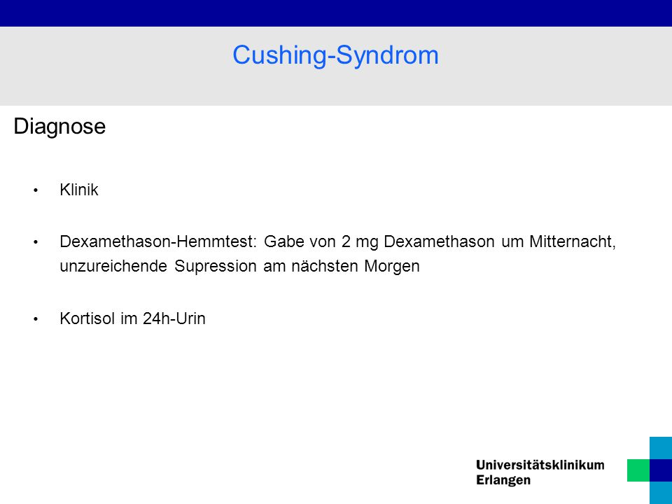Cushing-Syndrom Diagnose Klinik