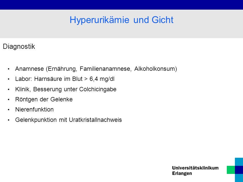 Hyperurikämie und Gicht