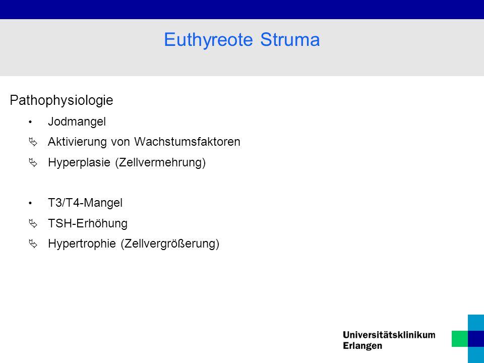 Euthyreote Struma Pathophysiologie Jodmangel