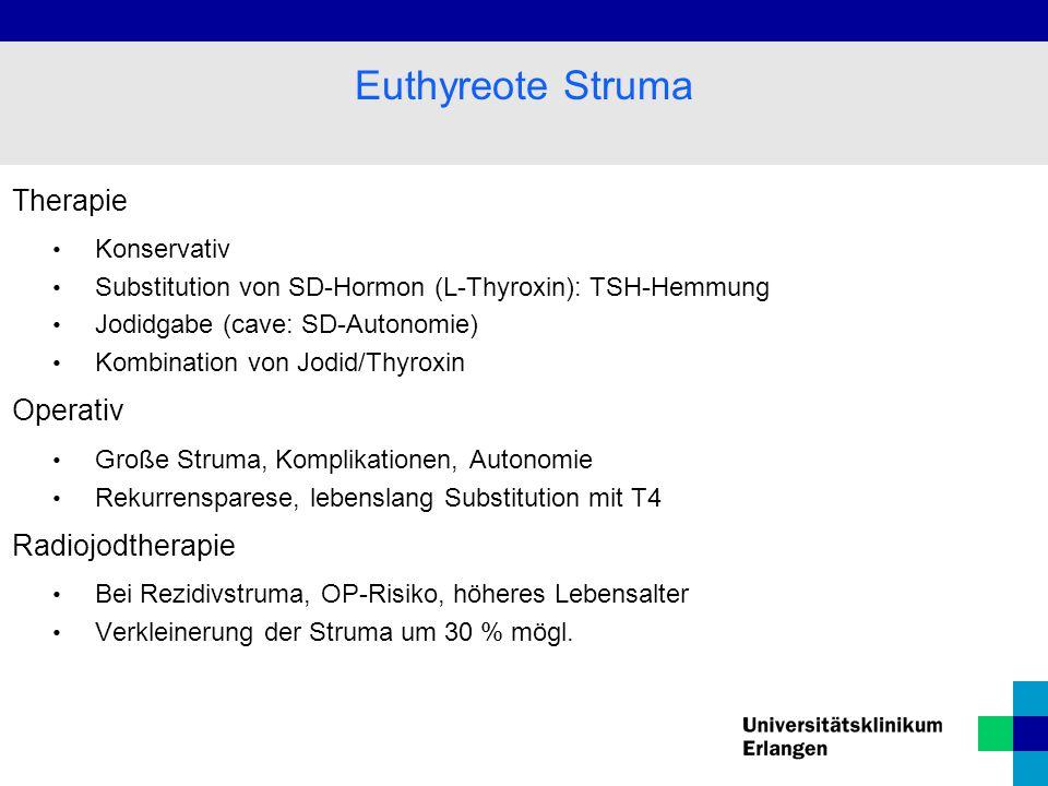 Euthyreote Struma Therapie Operativ Radiojodtherapie Konservativ