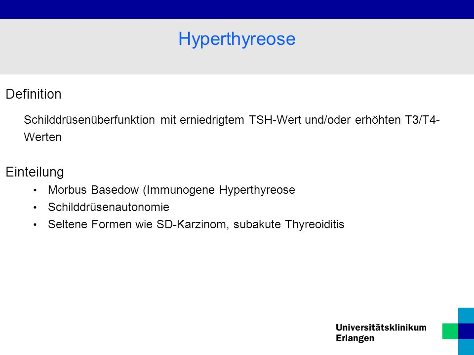 Hyperthyreose Definition Einteilung