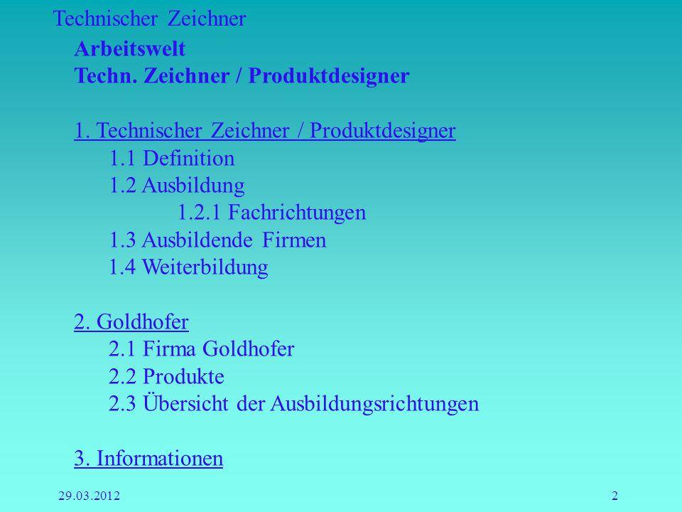 Techn. Zeichner / Produktdesigner