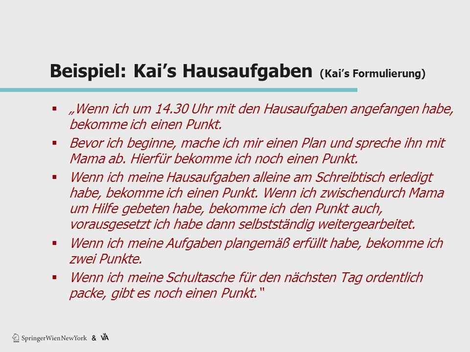 Beispiel: Kai's Hausaufgaben (Kai's Formulierung)