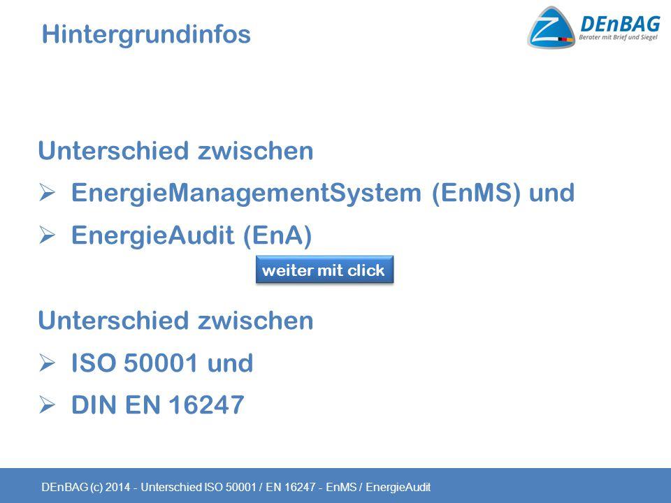 EnergieManagementSystem (EnMS) und EnergieAudit (EnA)