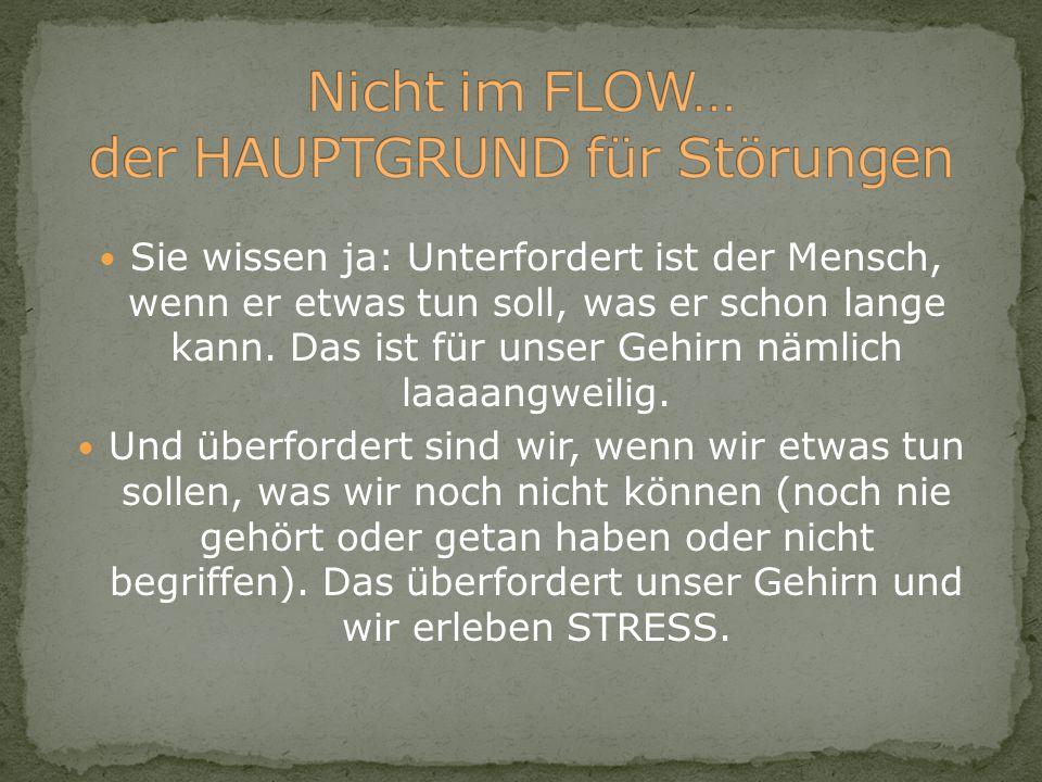 Nicht im FLOW… der HAUPTGRUND für Störungen