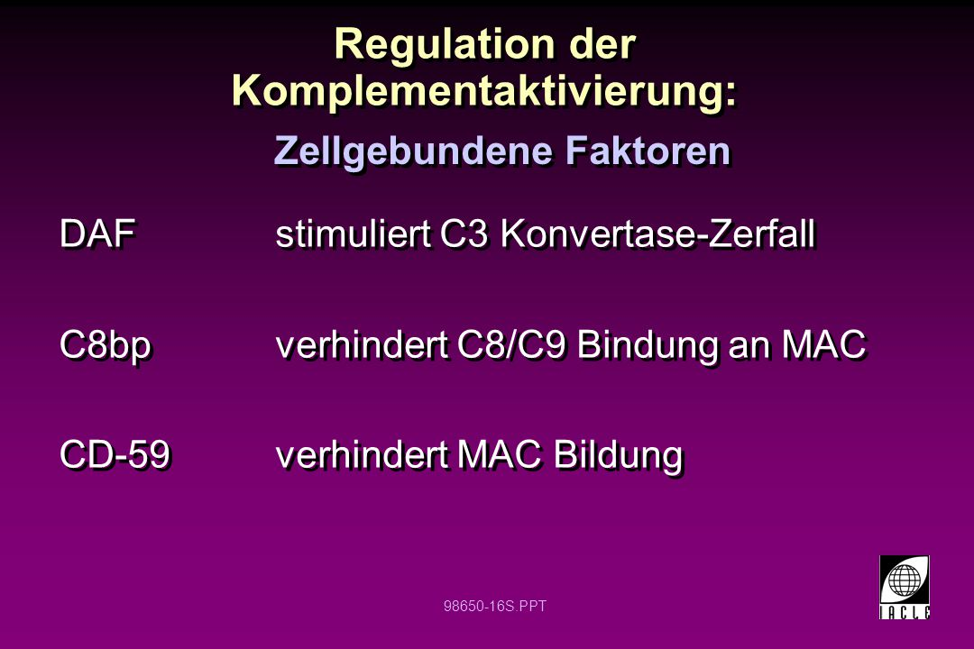 Regulation der Komplementaktivierung:
