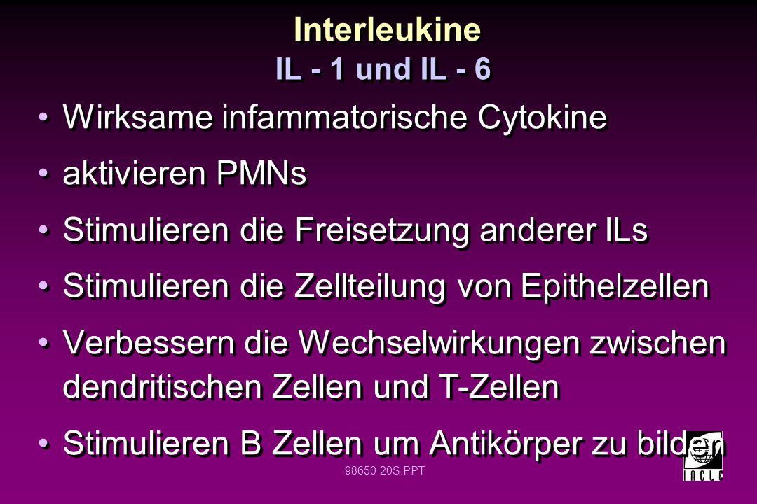 Wirksame infammatorische Cytokine aktivieren PMNs