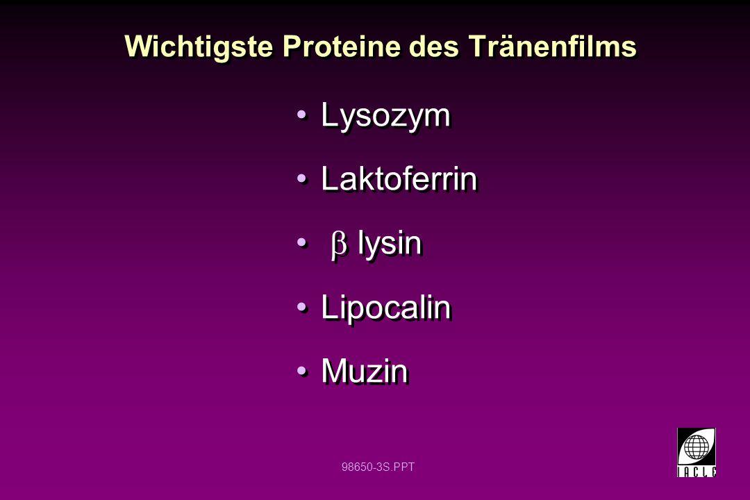 Wichtigste Proteine des Tränenfilms
