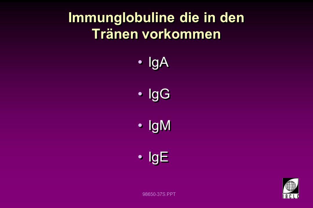 Immunglobuline die in den Tränen vorkommen