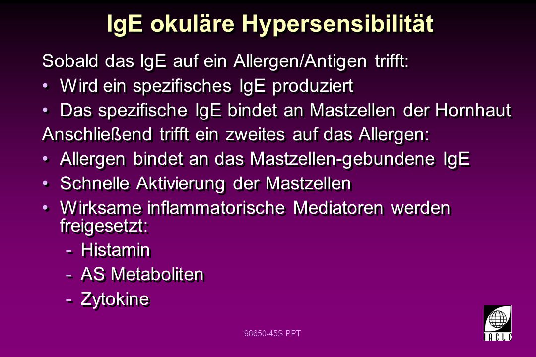 IgE okuläre Hypersensibilität