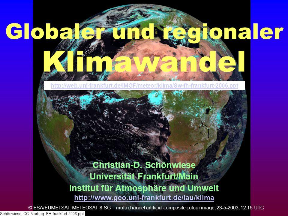 Globaler und regionaler Klimawandel