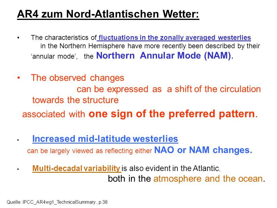 AR4 zum Nord-Atlantischen Wetter: