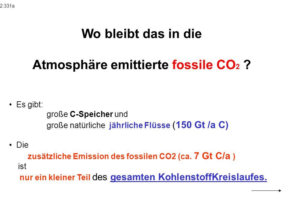 Atmosphäre emittierte fossile CO2