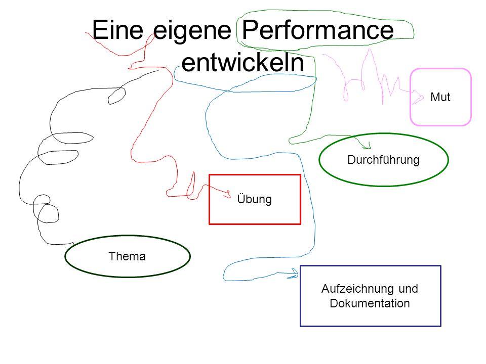 Eine eigene Performance entwickeln