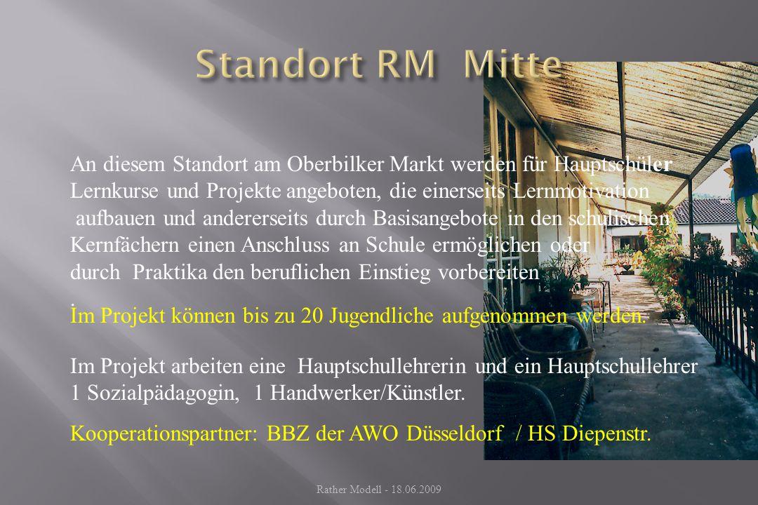 Standort RM Mitte An diesem Standort am Oberbilker Markt werden für Hauptschüler Lernkurse und Projekte angeboten, die einerseits Lernmotivation.