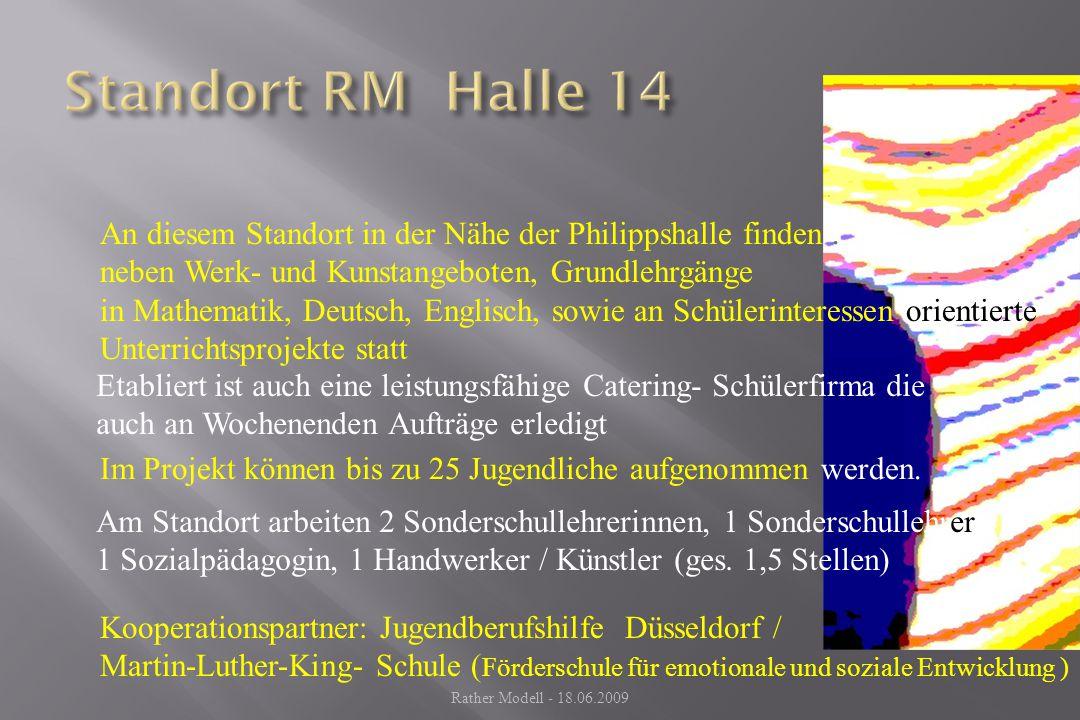 Standort RM Halle 14 An diesem Standort in der Nähe der Philippshalle finden . neben Werk- und Kunstangeboten, Grundlehrgänge.