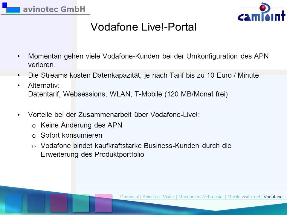 Vodafone Live!-Portal Momentan gehen viele Vodafone-Kunden bei der Umkonfiguration des APN verloren.