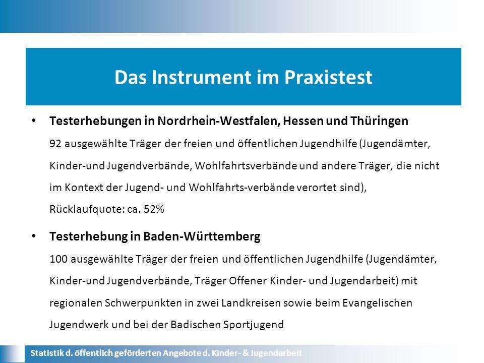 Das Instrument im Praxistest