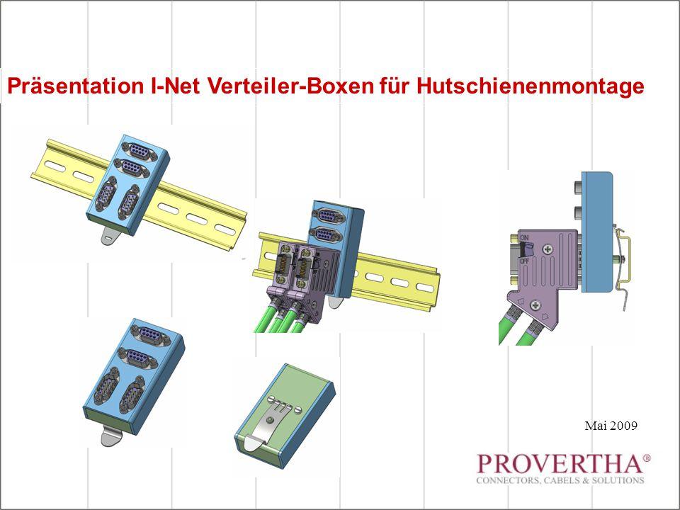 Präsentation I-Net Verteiler-Boxen für Hutschienenmontage