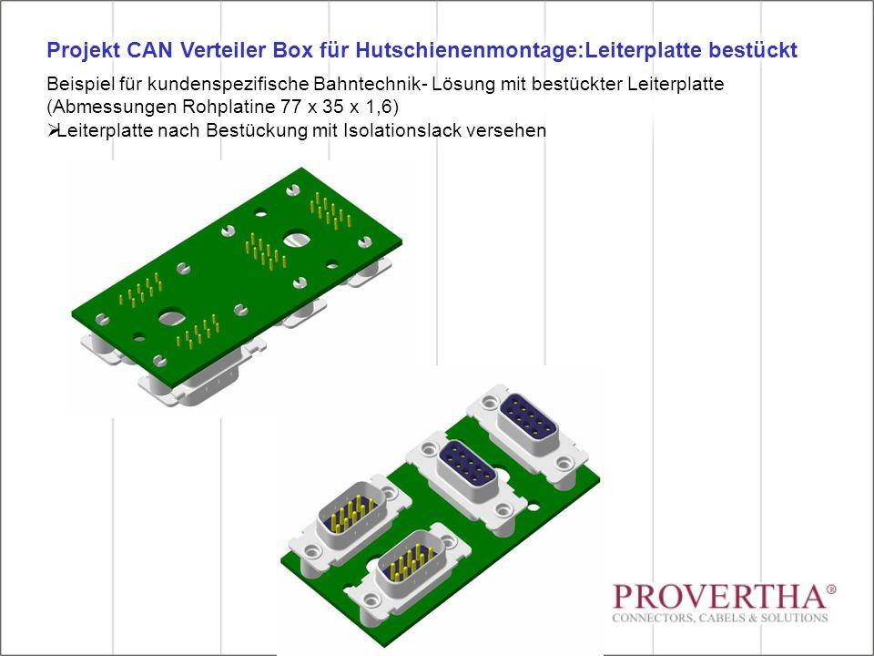 Projekt CAN Verteiler Box für Hutschienenmontage:Leiterplatte bestückt