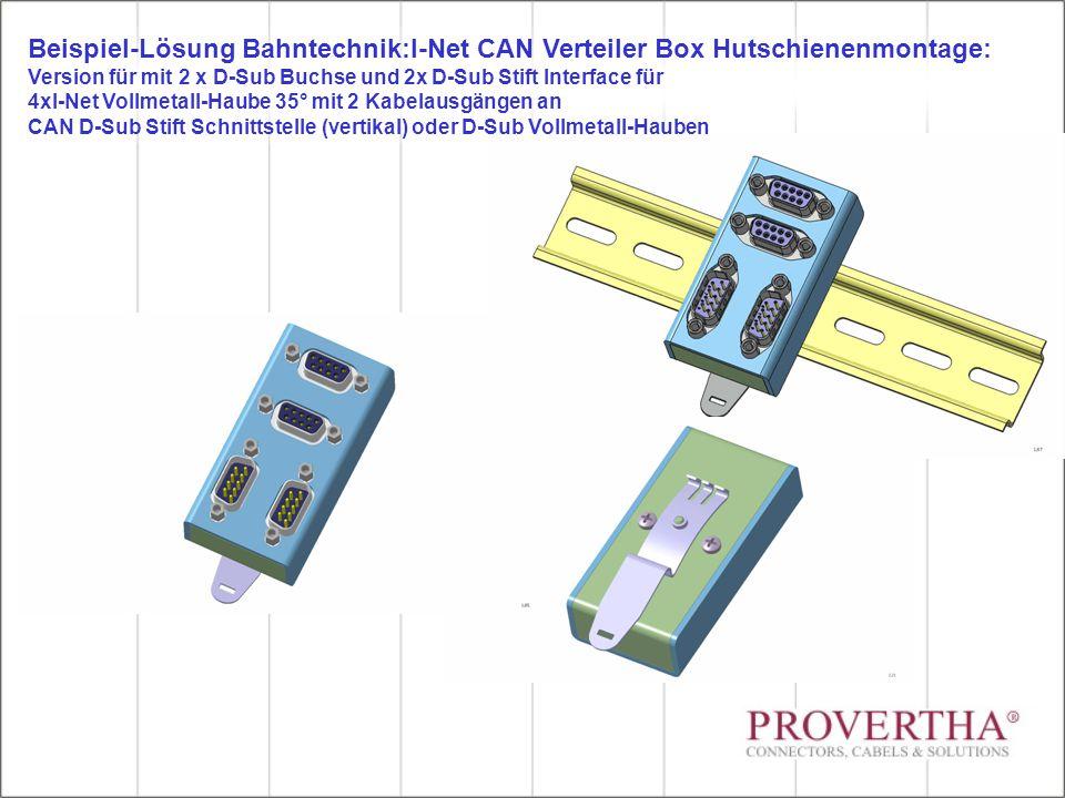 Beispiel-Lösung Bahntechnik:I-Net CAN Verteiler Box Hutschienenmontage: